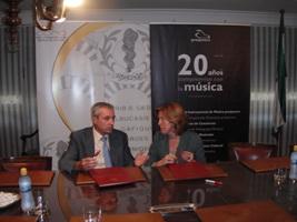 Presjovem y el CMC firman un convenio de colaboración para potenciar actividades musicales durante 2011