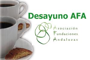 Primer 'Desayuno AFA' con Rosa Gallego, presidenta de DAFNE