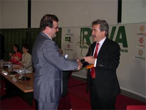 Entrega del premio a la página web de la Asociación