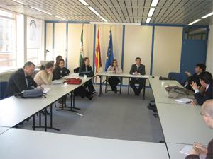 La delegación de la Junta de Andalucía en Bruselas recibe a la AFA