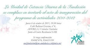 Montepíos les invita al acto de inauguración de sus actividades 2011-2012