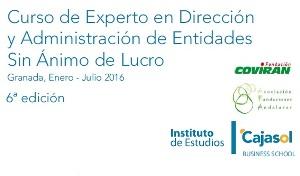 El 28 de enero dará comienzo en Granada el Curso de Experto en Entidades Sin Ánimo de Lucro