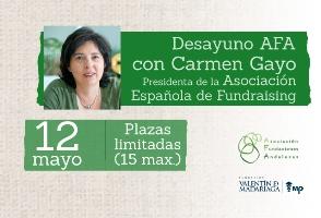 Nuevo Desayuno AFA con Carmen Gayo, presidenta de la AEFundraising