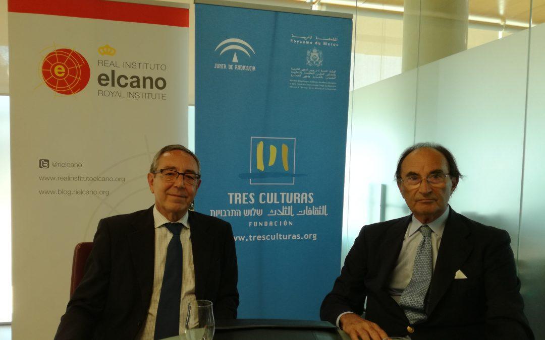 La Fundación Tres Culturas y el Real Instituto Elcano firman un convenio de colaboración