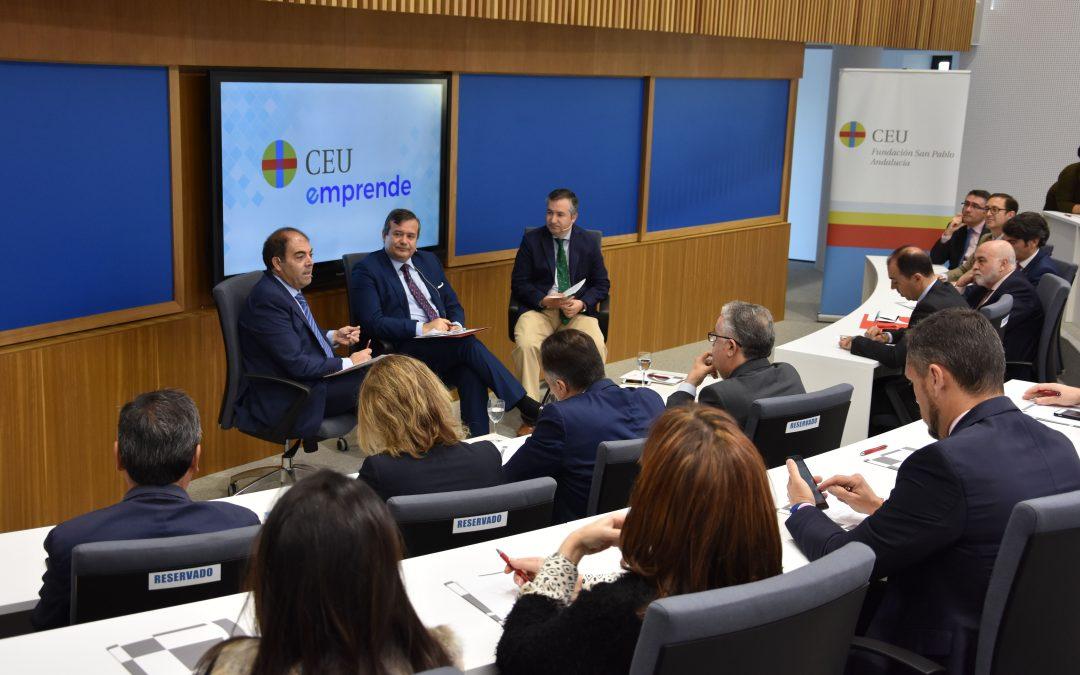 El presidente de los autónomos, Lorenzo Amor, en los Encuentros CEU Emprende