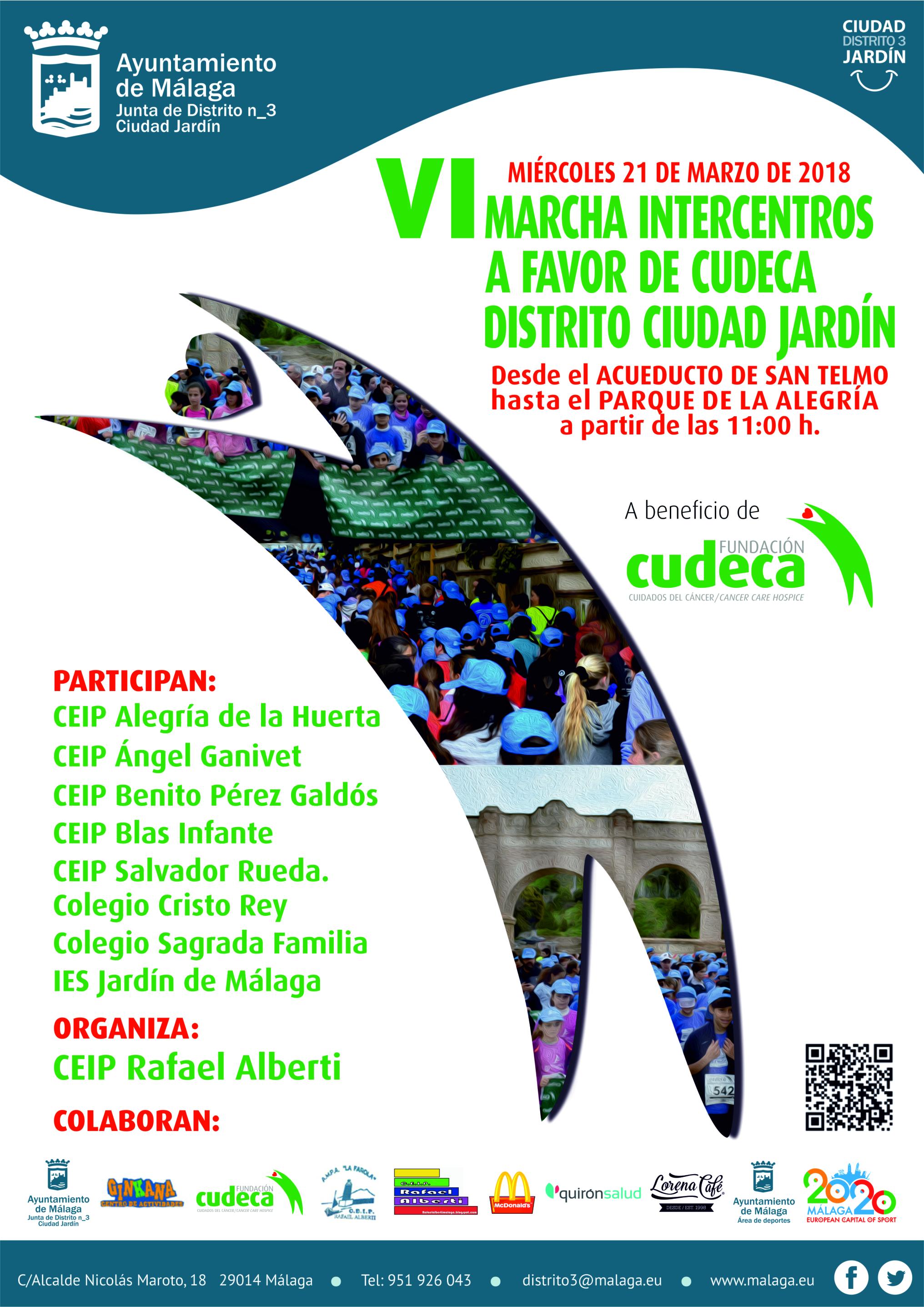 Vi marcha intercentros a beneficio de fundaci n cudeca for Ceip ciudad jardin