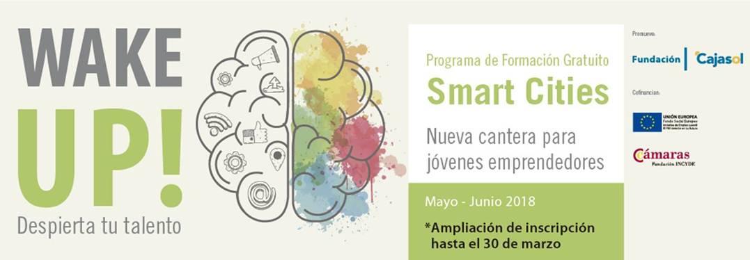Nueva fecha límite de inscripción al programa formativo sobre emprendimiento y Smart Cities 'Wake up!' de la Fundación Cajasol