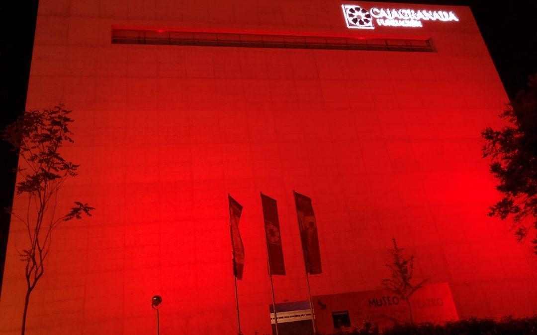 El Museo CajaGranada se tiñe de rojo para visibilizar el Síndrome 22q11
