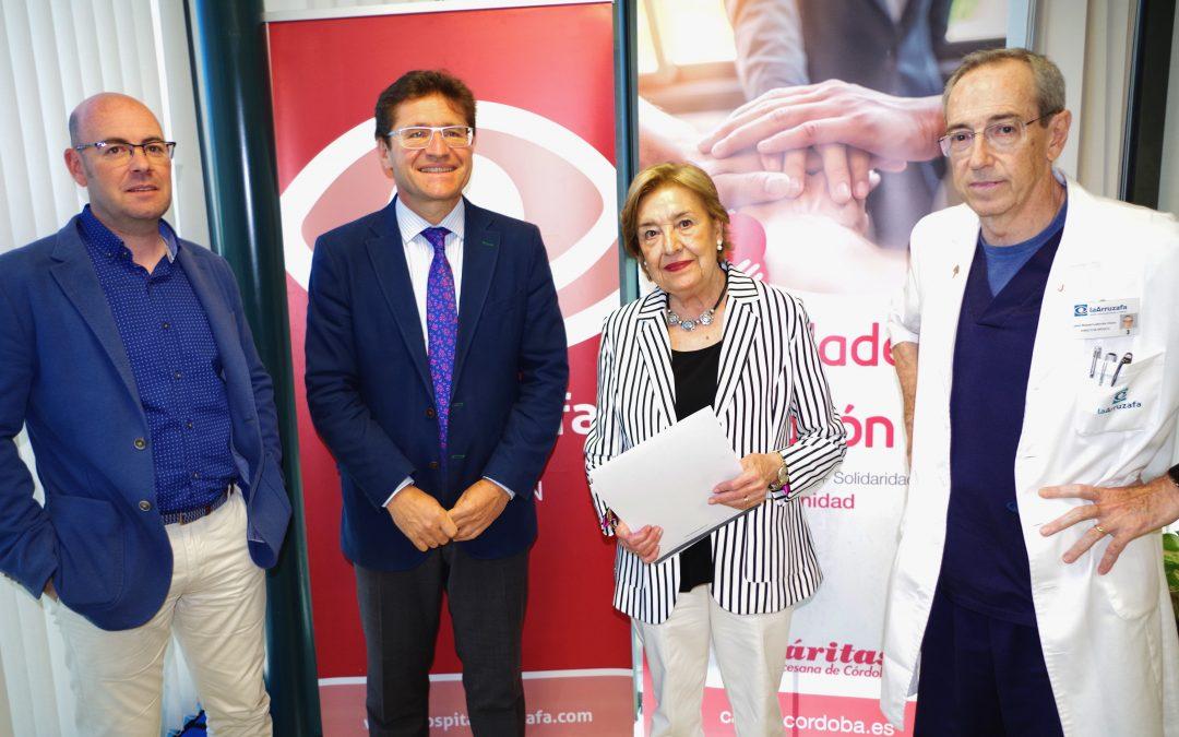 Fundación la Arruzafa amplía su cobertura social tras firmar con Cáritas un convenio para ayudar a personas sin recursos