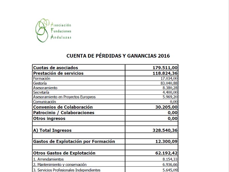 Cuentas Anuales 2016