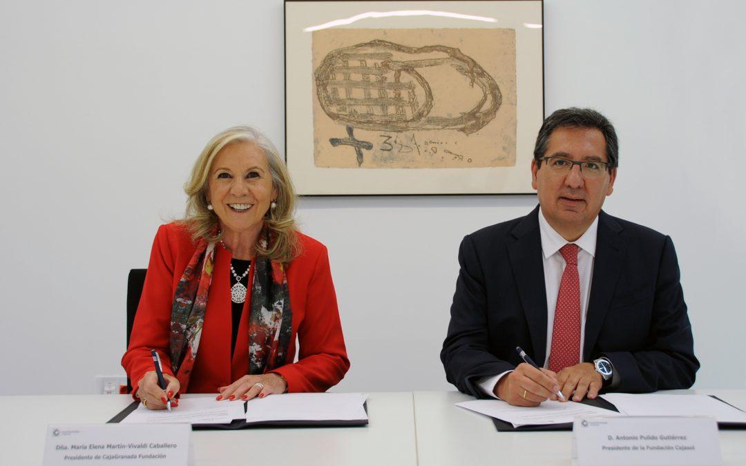 Fundación Cajasol y CajaGranada Fundación se alían para desarrollar en conjunto actividades culturales, formativas y empresariales en Granada