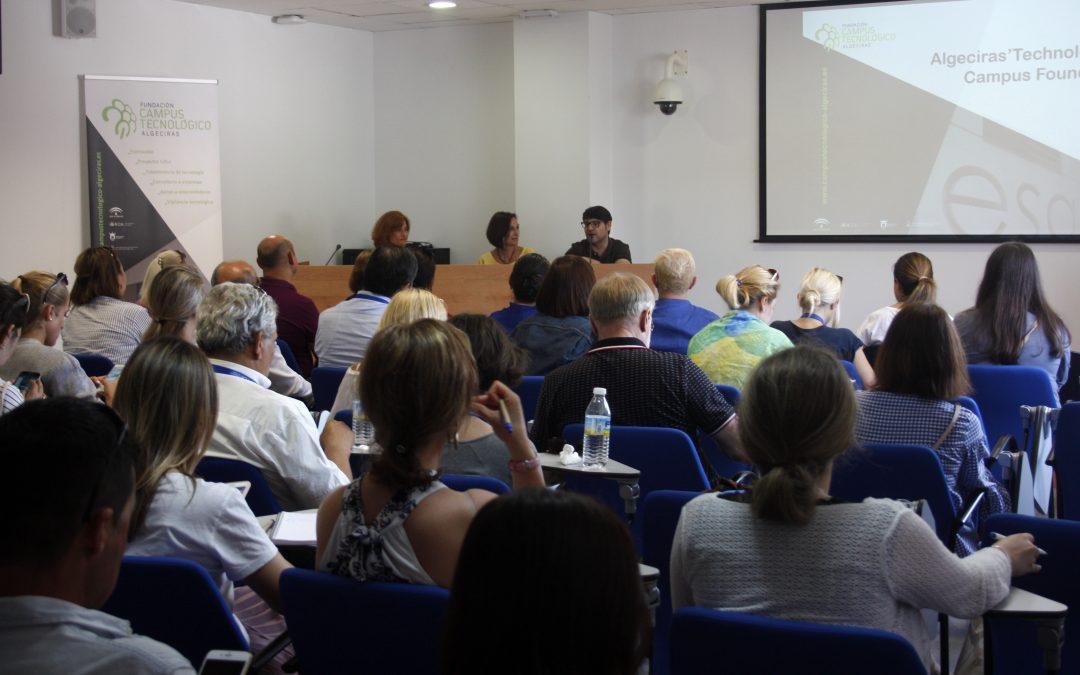 Más de 50 representantes de universidades extranjeras visitan el edificio I+D+i de Campus Tecnológico de Algeciras