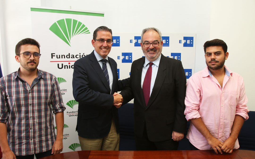 Fundación Unicaja beca a dos estudiantes de periodismo para realizar prácticas en la Agencia EFE