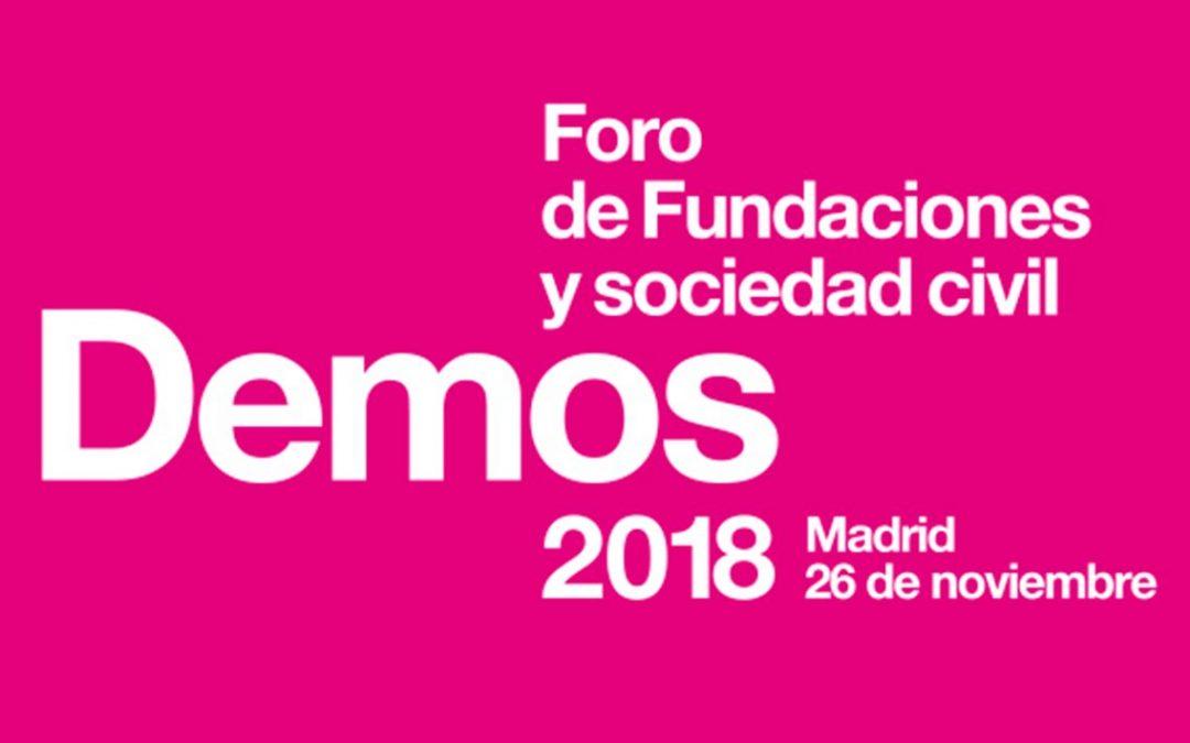 Apúntate con AFA a 'DEMOS 2018', el Foro de Fundaciones y Sociedad Civil