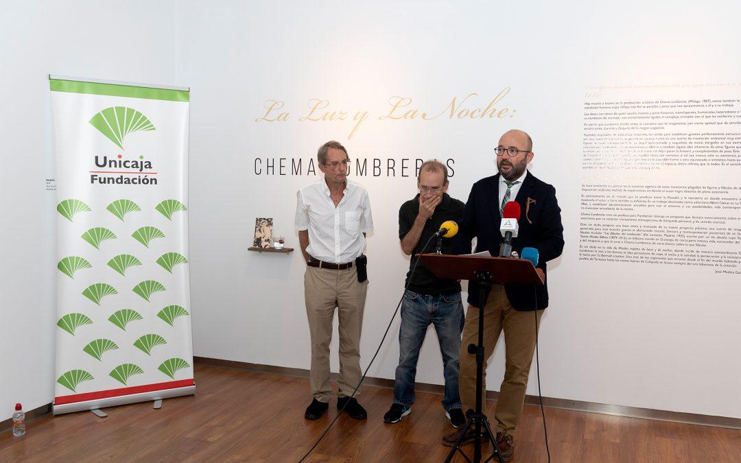 Chema Lumbreras presenta la muestra 'La luz y la noche', exposición original del artista para Fundación Unicaja