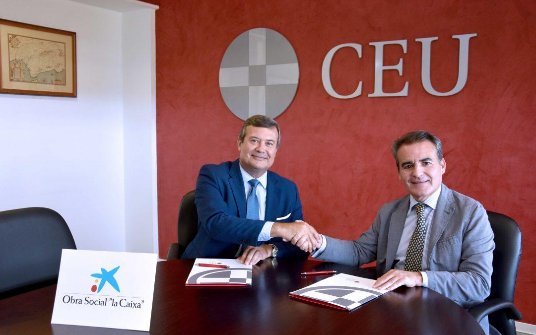 Rafael Herrador, director territorial de Caixabank, visita el Campus de CEU Andalucía