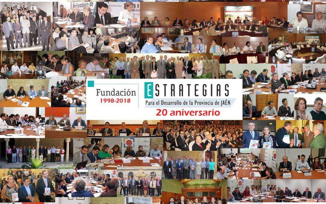 """La Fundación """"Estrategias para el desarrollo económico y social dela provincia de Jaén"""" cumple este sábado veinte años de andadura"""