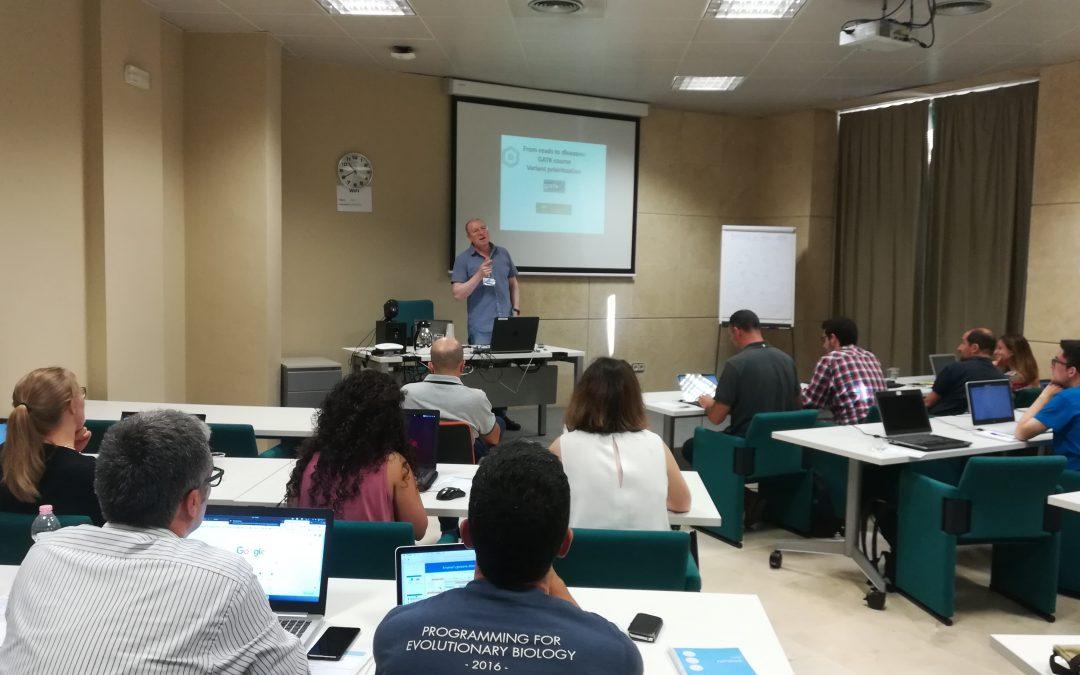 Una treintena de profesionales se dan cita en un curso sobre herramientas GATK organizado por la Fundación Progreso y Salud