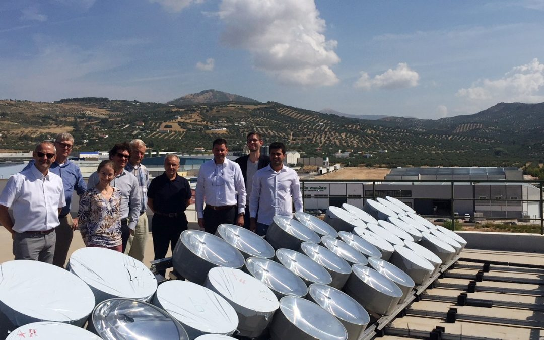 Andaltec acoge la reunión del proyecto europeo CPV4ALL, centrado en el desarrollo de un innovador concentrador de energía solar