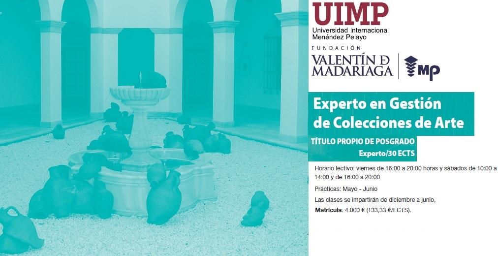Abierto el plazo de inscripción al 'Programa de Experto Universitario en Gestión de Colecciones de Arte' de la UIMP y FVMO