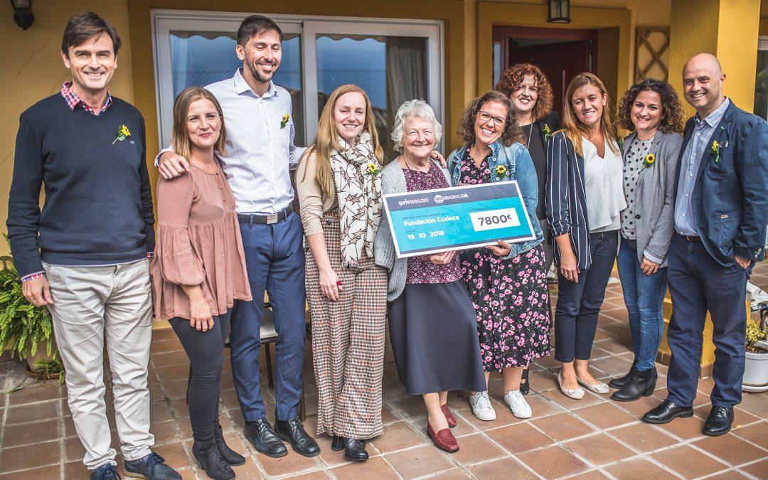 Gran éxito en la Campaña Solidaria de Quehoteles y Vayacruceros por CUDECA