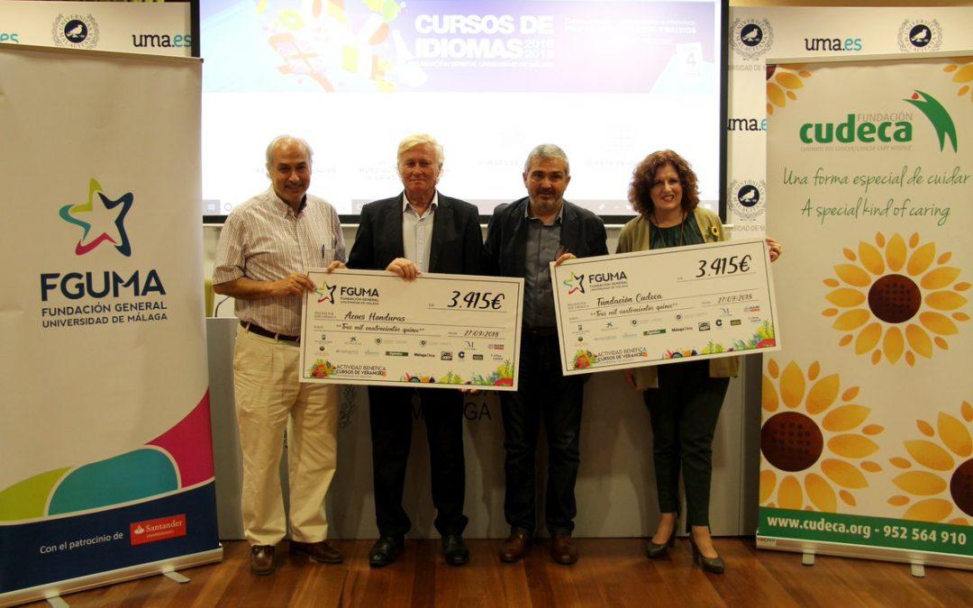 La Fundación General de la UMA entrega 6.830 euros en su Concierto Solidario en favor de Cudeca y ACOES Honduras