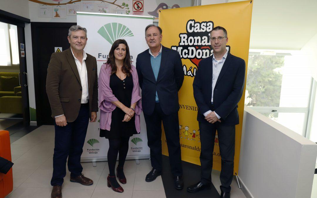 Fundación Unicaja renueva su colaboración con la Casa Ronald McDonald apadrinando una de sus habitaciones