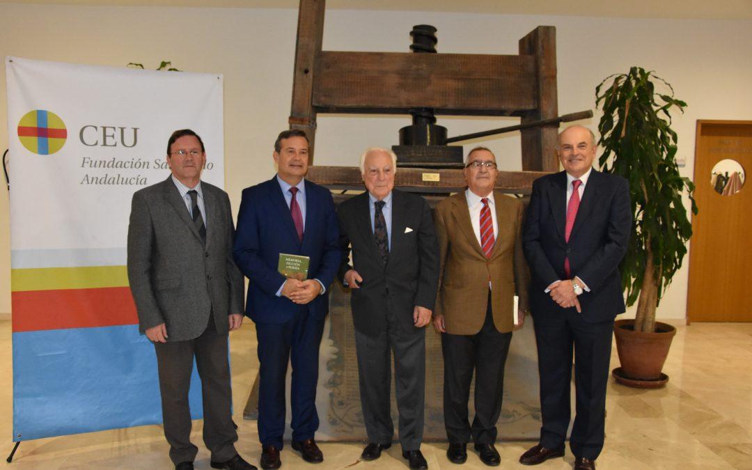 Presentación del libro 'Memoria, ficción y poesía' de Aquilino Duque en CEU Andalucía