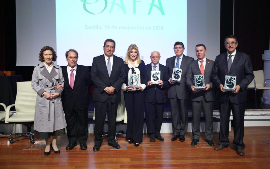 Carmen Thyssen-Bornemisza, la Asociación Madre Coraje, la Fundación Mehuer, la Asociación Córdoba Ecuestre y la Fundación Río Tinto, reconocidas en los Premios AFA 2018