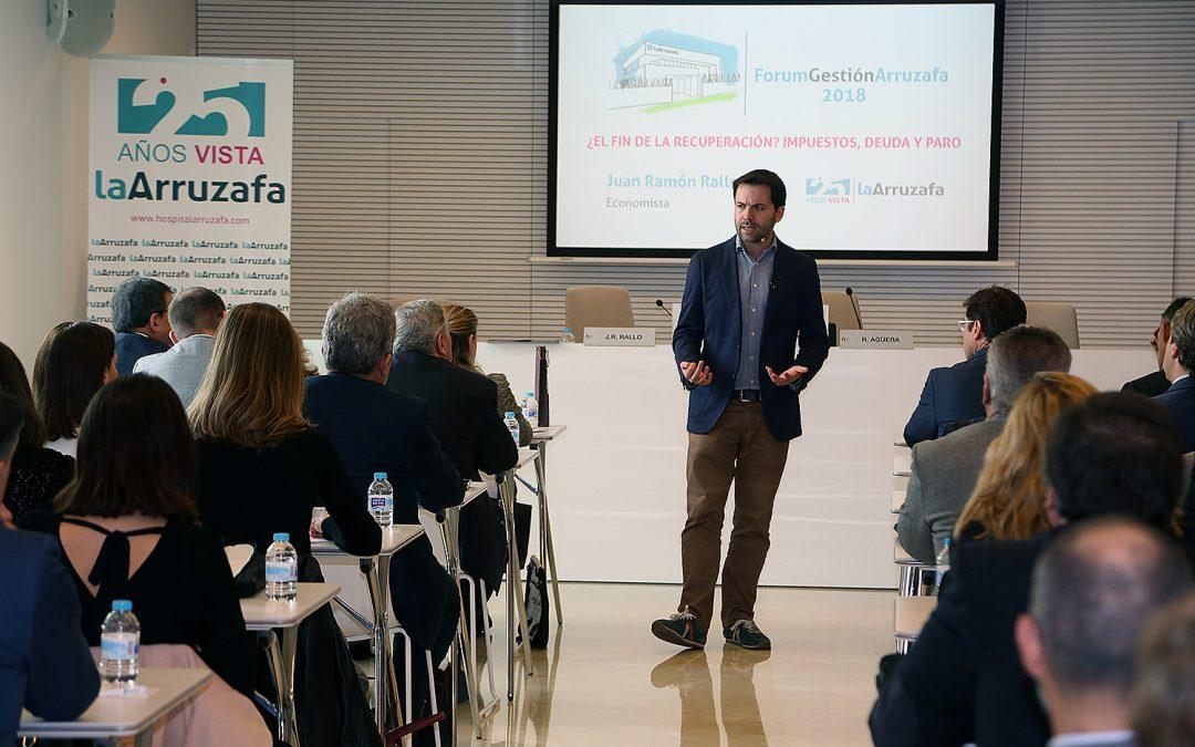 El economista Juan Ramón Rallo apuesta por reformas en el mercado educativo, laboral y el sector público en el Forum Gestión Arruzafa