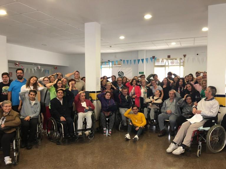 María José Sánchez Rubio visita a la Asociación DACE el Día Nacional del Daño Cerebral Adquirido
