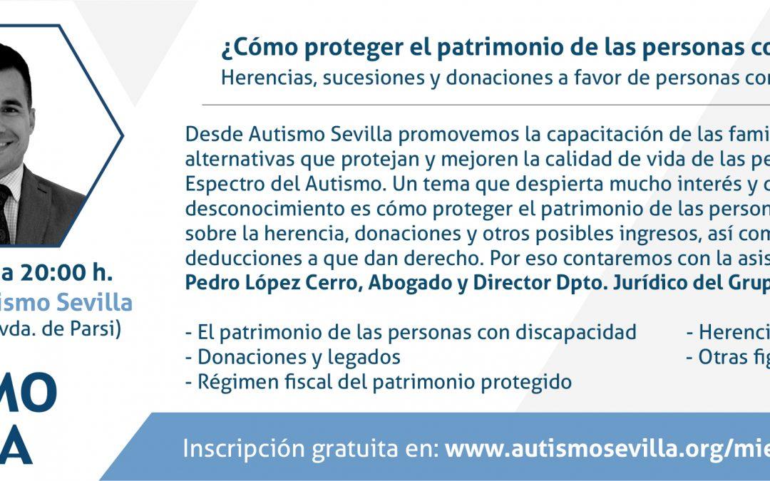 'Miércoles Azul' una nueva iniciativa de Autismo Sevilla para capacitar a las familias de personas con autismo