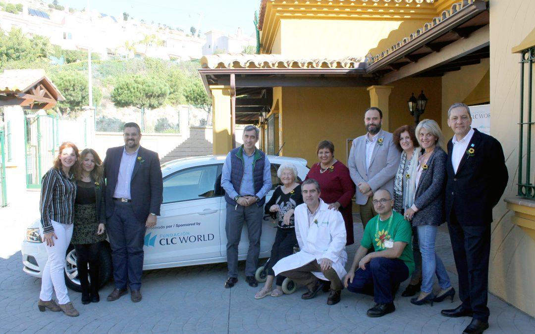 Presentación del vehículo de Atención Domiciliaria de Cudeca patrocinado por la Fundación CLC World