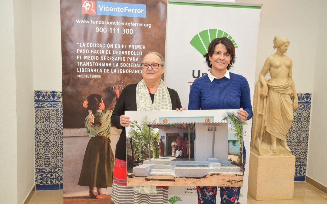 Fundación Unicaja colabora con la Fundación Vicente Ferrer en un proyecto de viviendas sociales en la India