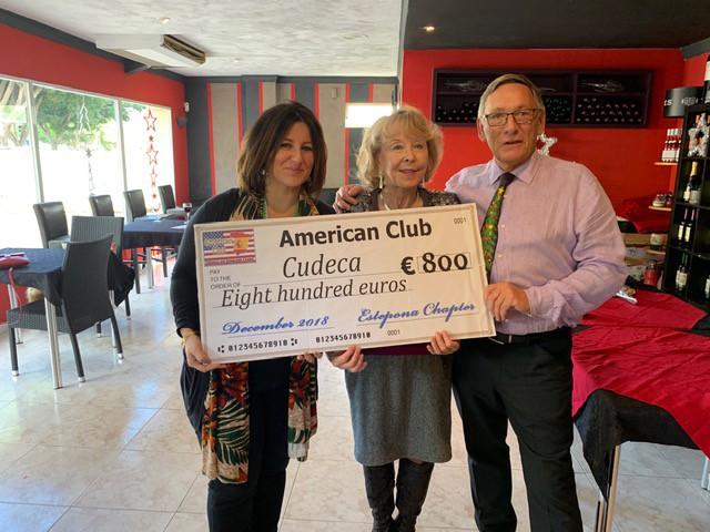 El Club Americano de la Costa del Sol, Estepona & Sotogrande sigue ayudando un año más a CUDECA
