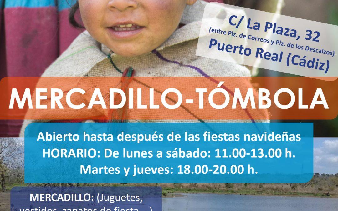 Madre Coraje Puerto Real abre un Mercadillo -Tómbola hasta después de las fiestas navideñas