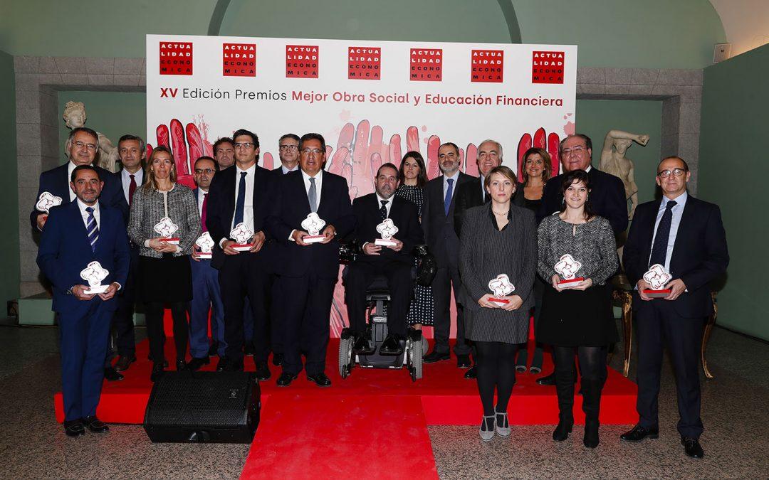 Actualidad Económica reconoce la labor cultural y educativa de la Fundación Unicaja con dos de sus premios anuales