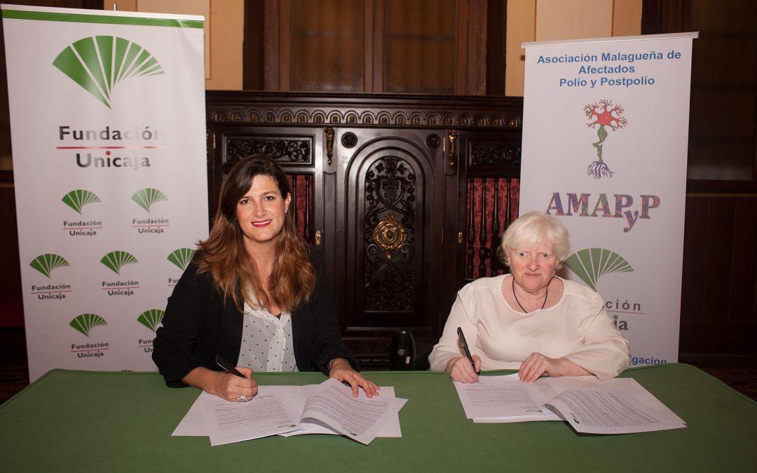 Fundación Unicaja se une a la Asociación Malagueña de Afectados por la Polio y Post Polio para evaluar la fatiga relacionada con la enfermedad