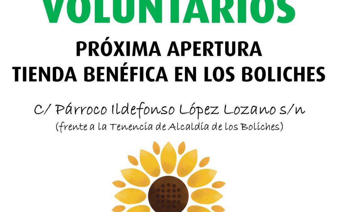 CUDECA necesita voluntarios para su nueva Tienda Benéfica en Los Boliches