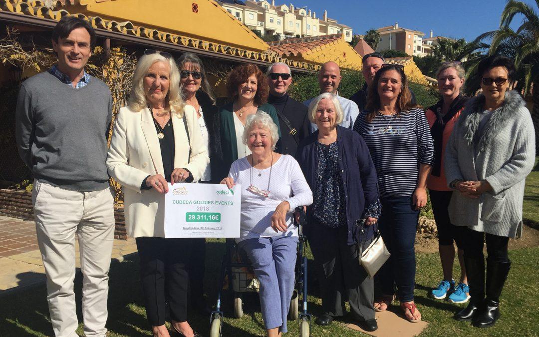 """El grupo de voluntarios """"Cudeca Goldies"""" presenta en el centro de la fundación sus actividades previstas para 2019"""