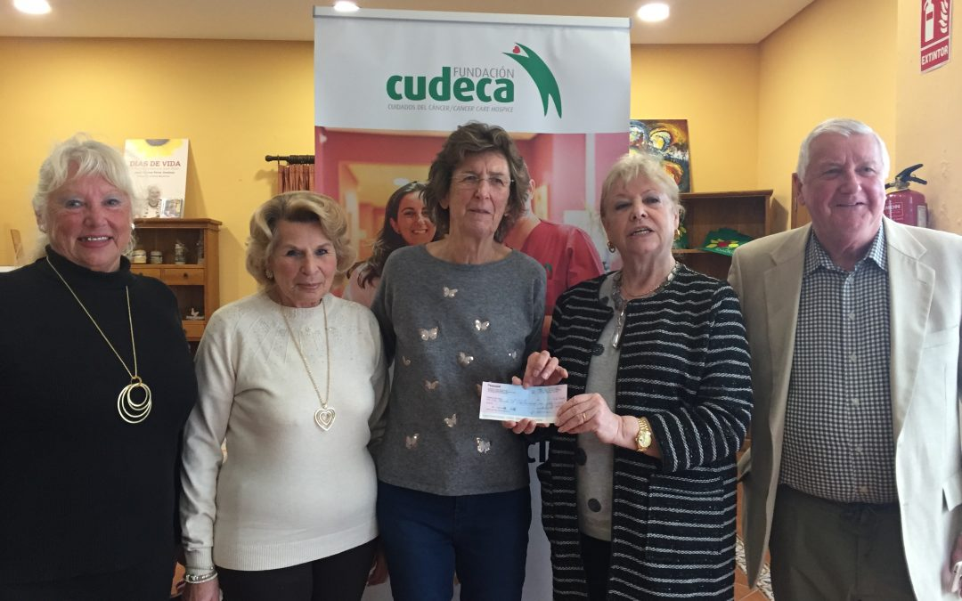 C.A.P. Singers entrega cheque donación a la Fundación Cudeca