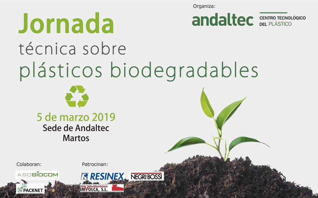 Andaltec organiza una jornada técnica sobre plásticos biodegradables el próximo 5 de marzo