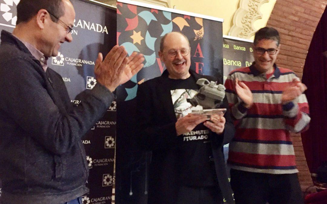 Fernando Marías recibe el I Premio Viajero en el Tiempo del festival Gravite