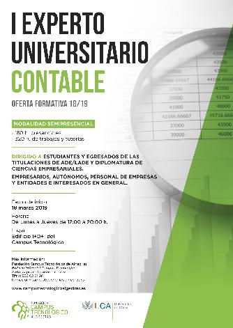 La Fundación Campus Tecnológico y la UCA amplían su oferta formativa 18/19 con un nuevo curso de Experto Contable