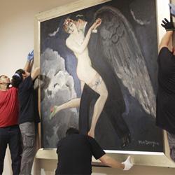 """Todo listo para la inauguración de """"Perversidad. Mujeres fatales en el arte moderno"""""""