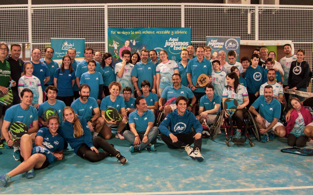 Evento inclusivo y formativo de voluntariado en la Semana Social de la Caixa con Pádel Integra