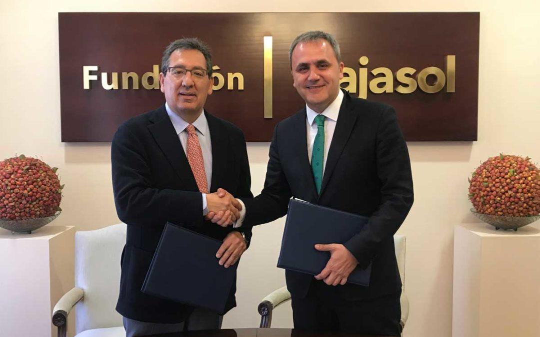 La Fundación Cajasol y la Fundación Aro mantienen su apuesta y compromiso con las escuelas de baloncesto en Sevilla