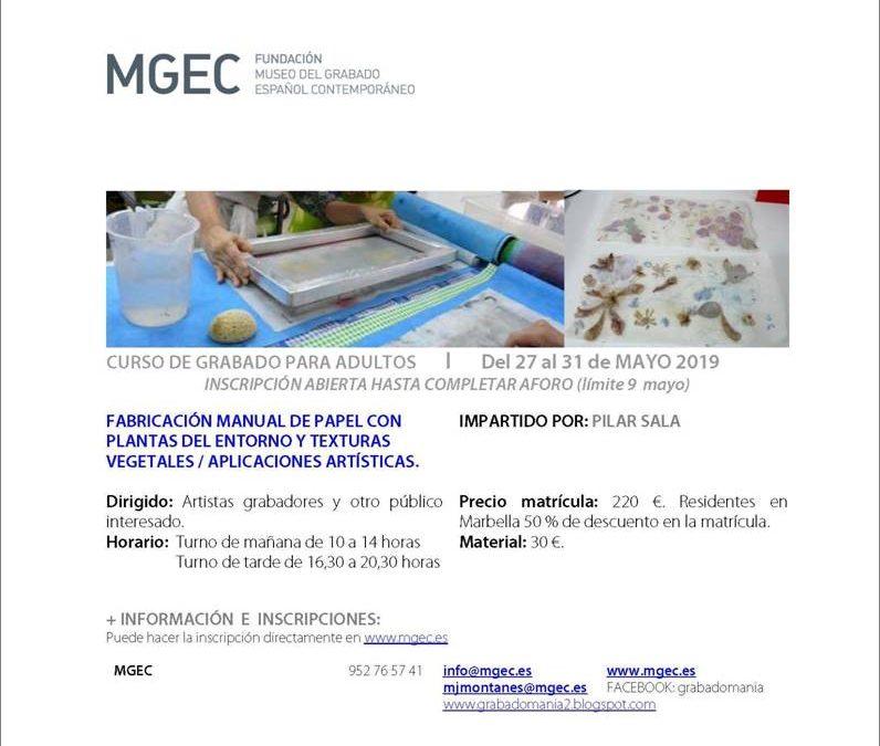 Marbella, Málaga. Curso: FABRICACIÓN MANUAL DE PAPEL CON PLANTAS DEL ENTORNO