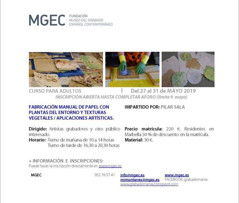 Matrícula abierta para el Curso de la Fundación MGEC 'Fabricación Manual de papel con plantas del entorno y texturas vegetales'