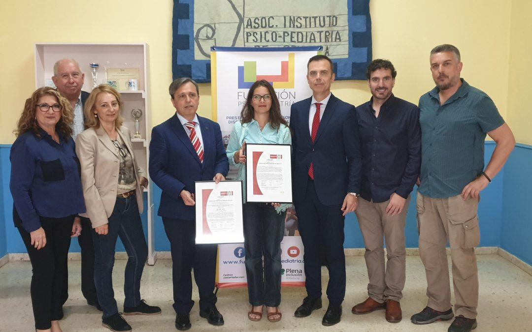 Fundación Psicopediatría de Sevilla recibe la Certificación en el Sistema de Calidad ISO 9001:2015